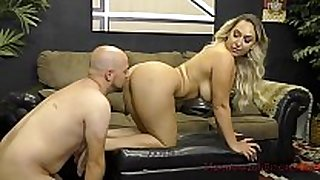 Booty queen nina kayy makes her wimp boyfriend ...