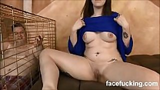 (new) slut white babes takes pet husband to watch her ...