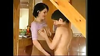 Milf seducing teenager