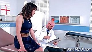 Hardcore sex act between doctor and sexy wench pa...