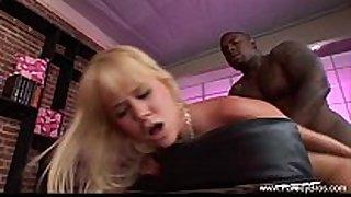 Blonde milf deep interracial anal taboo