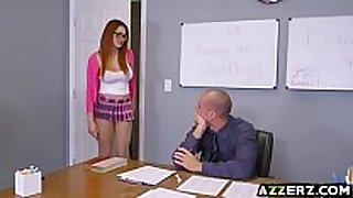 Busty redhead skyla novea tempted her hawt prof