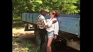 A white Married wench picked up by a black worker for fuck