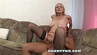 Horny juicy old granny receives her obese juicy hairless ...