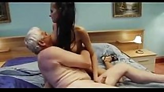 Grandfather fucking not his big titted young gr...