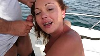 Wife giving a friend a blow job during the time that four of u...