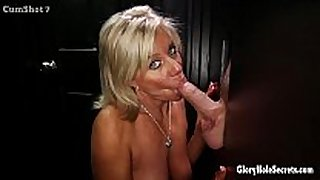 Gloryhole secrets aged blond shows off her y...