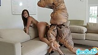 Big ass latin chick legal age teenager chased by lesbian loving tr...