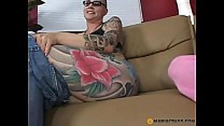 Teeny fucked by tattooed mamma