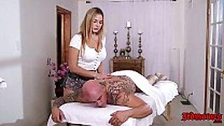 Blair williams the massage sexually concupiscent slutty BBC whore