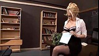 Sexy blond teacher drilled - facialxvideos.com