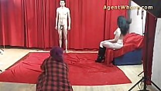 19yo casting man receives wild striptease from nast...