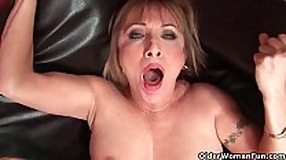 Hot grandma luna azul can not live out of cum on her face