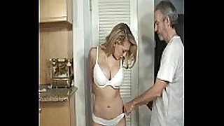 Door to door dilettante BBC slut fastened and gagged part 1