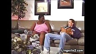 Ebony bbw wishes a mans long white knob