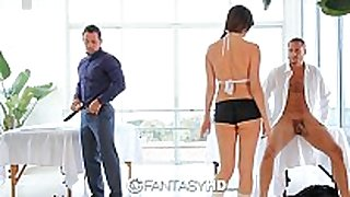 Hd fantasyhd - holly michaels massages two males...