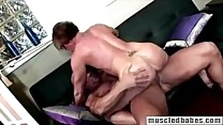 54yo muscled milf sucks hunk pecker
