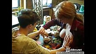 Russian redhead mommy tempt her son