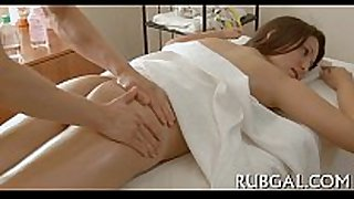 Sexy sex and massage get mixed
