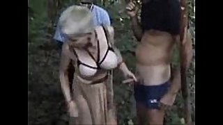 My concupiscent wench used by strangers outdoor. publi...
