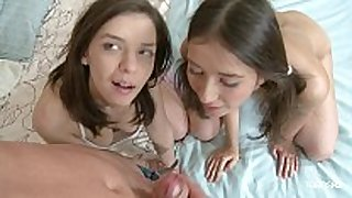 Playful russian legal age teenager angels willingly share a shlong