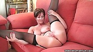 British milf pleasure exposing her large whoppers and sexy ...