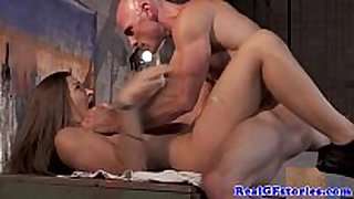 Real girlfriend acquires a mouthful of cum