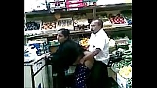 Boob grab and fuck in fruit shop