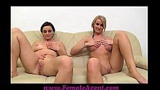 Femaleagent milf masturbates with favourable angels o...