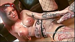 Busty redhead mai bailey gets her ribald cleft fisted ...