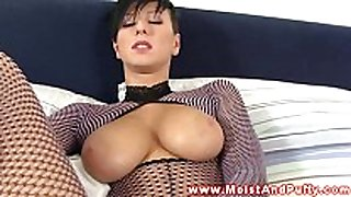 Beautiful puffy peach breasty playgirl solo sex