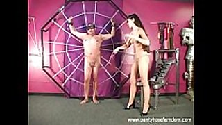 Pantyhose amazon punishes male slave