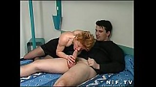 French redhead wench anal fucked in a hotel room