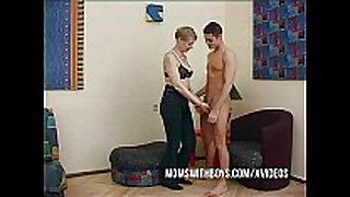Horny aged convinces youthful guy to fuck