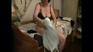 My sexually lascivious mum caught masturbating by hidden web camera