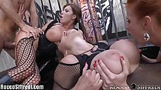 Roccosiffredi large titted anal groupsex with ale...