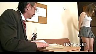 Hot riding with aged teacher