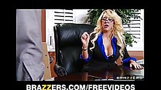 Busty golden-haired milf suggests her intern a job if this chab...