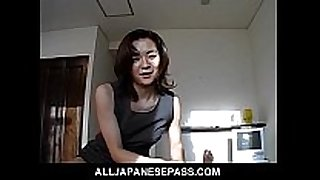 Gorgeous japanese milf in an office costume sucks ...