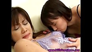 Hot oriental milf doxy lesbo obscene cleft oral-job sex