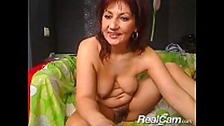 Old aged white cheating dirty whore bawdy floozy slutwife does intimate web camera show