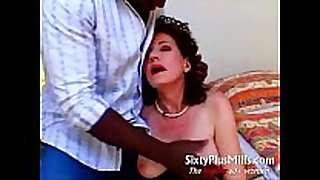 Aged impure doxy excited white wife doing large dark man