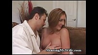 Redhead Married wench watched by nerd hubby