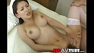 Busty japanese nurse receives cream fountain