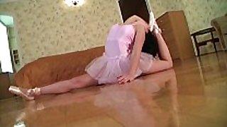 Flexible gymnast gets drilled
