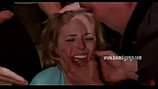 Blonde acquires her face slapped