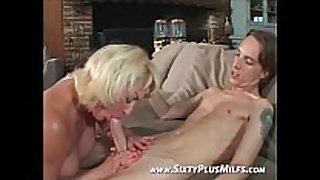 Fine blond grandma desirous to fuck