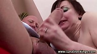 Mature nylons whore gets spanked
