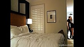 Hot hotel room sex with a breasty Married whore