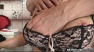 She rides my cock and Married whore comes in